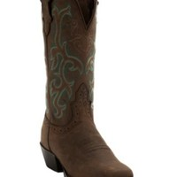 Justin® Ladies Sorrel Apache Brown Stampede Square Toe Boot