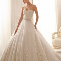 Mori Lee 2621 Lace Ball Gown Wedding Dress