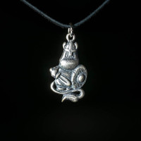 Moomin Warrior Pendant, silver-plated brass, handmade ..... Mumintroll Pendant, Moomin Necklace, Mumintroll Necklace