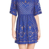 BCBGMAXAZRIA 'Jillyan' Lace Fit & Flare Dress | Nordstrom