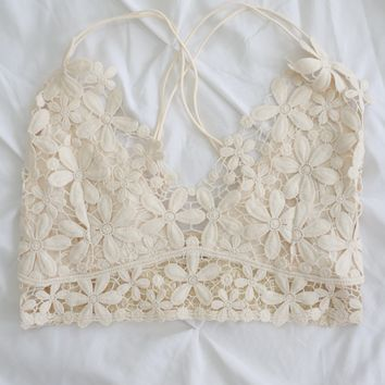 Fresh As A Daisy Bralette - Cream