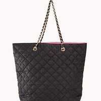Quilted Nylon Tote