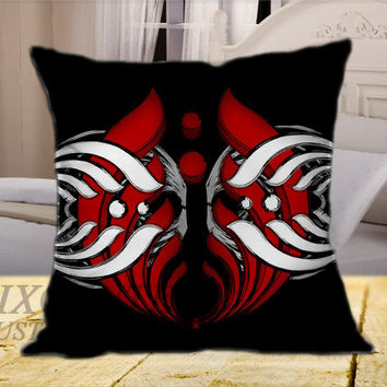 Bassnectar Red White on Square Pillow Cover