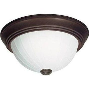"Nuvo 60-450 - 13"" Dome Flush Mount Ceiling Light in Old Bronze Finish"