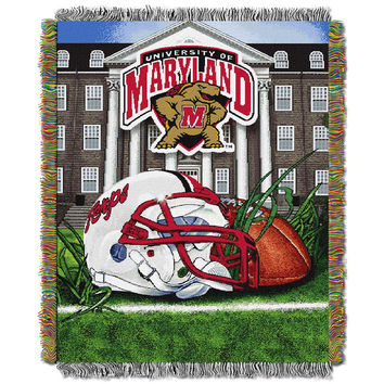 Maryland Terps NCAA Woven Tapestry Throw (Home Field Advantage) (48x60)