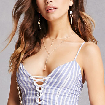 Surf Gypsy Striped Crop Top