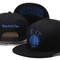 Golden State Warriors The City Logo Mitchell & Ness Black Snap Back Hat