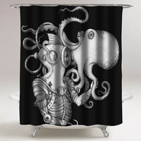 Deep Sea Discovery custom shower curtain decorative shower curtain size 36x72,48x72,60x72,66x72