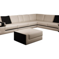 Arch Modern Leather Sectional by Scene Furniture | Opulentitems.com - Opulentitems.com