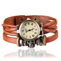 Vintage Style Wrist Watch Leather Bracelet Wrap Watch, Handmade Women's Watch, Everyday Bracelet  B45
