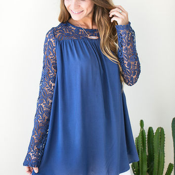 Lost in Lace Navy Tunic