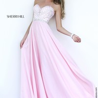 Sherri Hill 1944 Beaded Chiffon Prom Dress