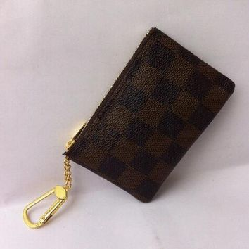 Tagre™ Louis Vuitton COIN PURSE BROWN COIN POUCH KEY HOLDERS Day-First™