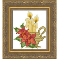 Christmas candles -  PDF Cross Stitch Pattern - INSTANT DOWNLOAD