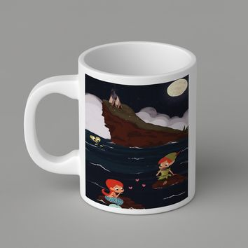 Gift Mugs | Peter Pan And Ariel Mermaid   Ceramic Coffee Mugs
