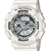 Casio Men's GA110C-7ACR G-Shock Large White Analog-Digital Multi-Function Sport Watch