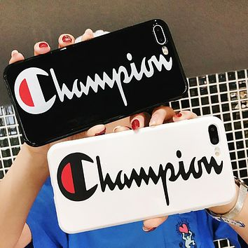 Champion New fashion letter print couple protective cover phone case