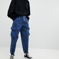 Reclaimed Vintage Revived Overdye Camo Trousers at asos.com