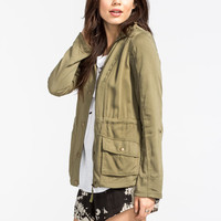 Ashley Anorak Womens Jacket Olive  In Sizes
