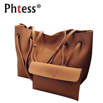 2 Set Women Composite Bag Women Leather Handbags Set Luxury Brand Sac A Main Femme Large Capacity Totes Bags for Women lady bag