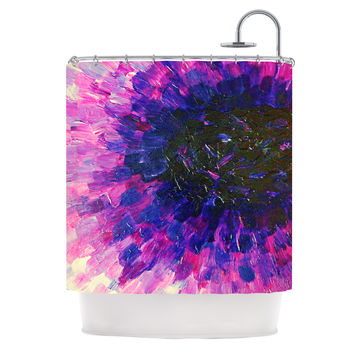 "Ebi Emporium ""Limitless"" Pink Purple Shower Curtain"