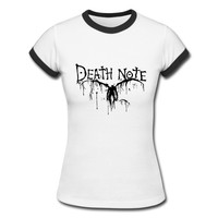 Death Note Women T Shirt Short Sleeve Cotton Handmade T Shirt Popular Summer O Neck the strokes Lady T Shirt