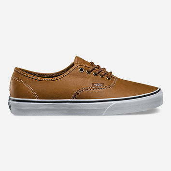 Vans Leather Authentic Shoes Brown  In Sizes