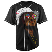 Schoolboy Q Black Button Up Baseball Jersey