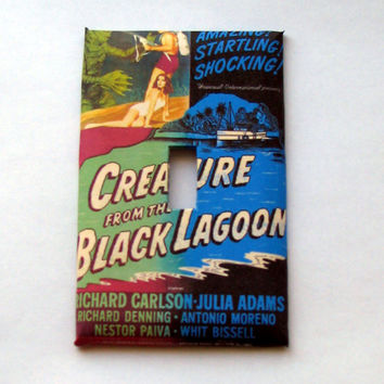 Light Switch Cover - Light Switch Plate Creature From The Black Lagoon Vintage Movie Poster