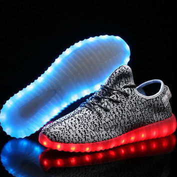LED Light Up Sneaker Womens Comfortable Casual Sports Shoes