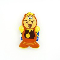 Japan Tokyo Disney Beauty and the Beast Cogsworth Doll