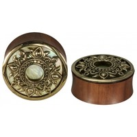 Philomena Mother Of Pearl inlay Plug - Buddha Jewelry Organics
