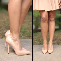 Rock The Red Carpet Heels in Nude