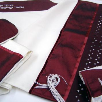 Bordeaux Star of Daivd Tallit