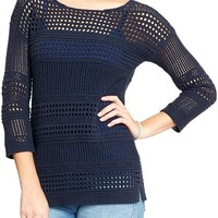 Women's Chunky Pointelle-Knit Sweaters