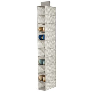10-Compartment 10 Pair Hanging Shoe Organizer