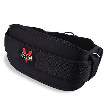 VALEO Fitness Equipment EVA Nylon Weight Lifting Belts Weight Lifting Belt Lower Back Waist Support Gym for Gravity Training