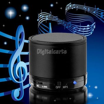 Portable Wireless Speaker Mini Bluetooth Speaker Music Player For Iphone MP4 MP3 Tablet PC 19945 (Color: Black) = 1708604164