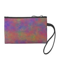 Psychedelic Stripes - Colorful Striped Abstract Coin Wallet