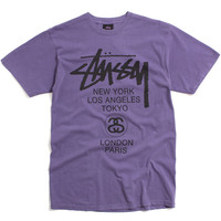 World Tour Pigment Dyed T-Shirt Purple