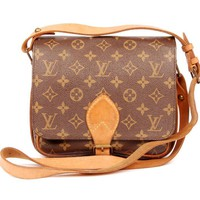 Louis Vuitton Cartouchiere Mm 5209 Brown Cross Body Bag (Authentic Pre-owned)