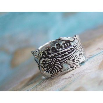 Dream Inspirational Quote Ring