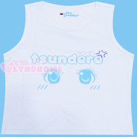 Cute Tsundere Sleeveless Crop Top