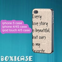Our Story---iphone 4 case,iphone 5 case,ipod touch 4 case,ipod touch 5 case,in plastic,silicone and  black , white.