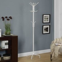"White Metal 74""H Coat Rack"