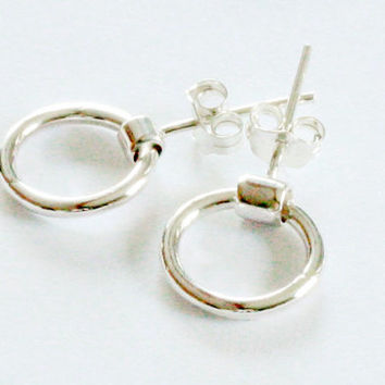 Ring of  O - Sterling silver earrings- BDSM earrings-bdsm jewelry