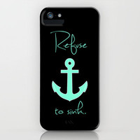 Refuse to sink Tiffany Anchor iPhone Case by Rex Lambo | Society6