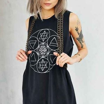 Future State Elemental Muscle Tee- Black