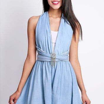 Convertible Denim Romper