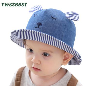 New Fashion Cowboy Baby Sun Hat Summer Cap for Boys Bucket Hats for Girls Rabbit ears Cap for Kids Sun Hat Caps